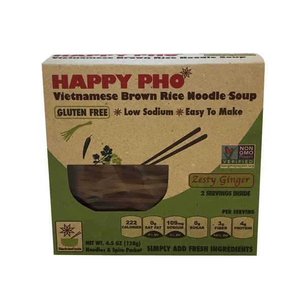 Star Anise Foods Happy Pho Zesty Ginger Brown Rice Noodle Soup