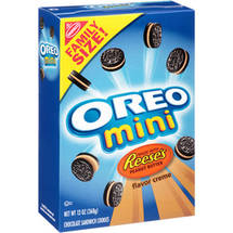 Nabisco Oreo Mini Reese's Peanut Butter Flavor Creme Sandwich Cookies