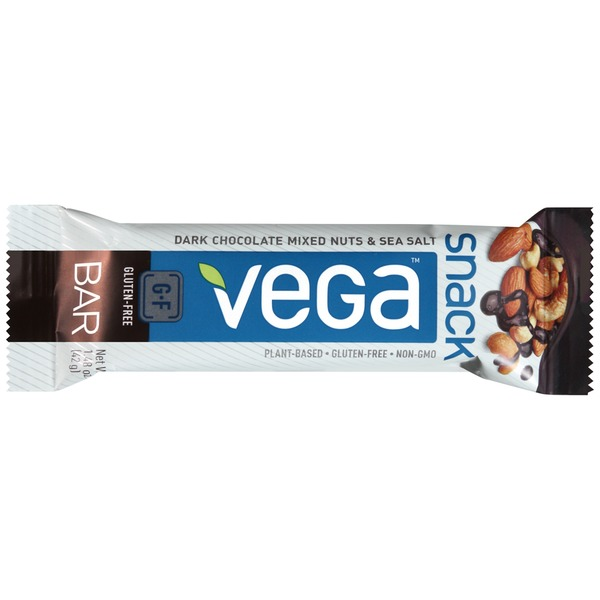 Vega Dark Chocolate Mixed Nuts & Sea Salt Snack Bar
