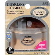 Phyicians Formula Talc-Free 2453 Natural Beige Mineral Loose Powder .49 oz