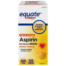 Equate Regular Strength Aspirin Pain Reliever Safety Coated Tablets