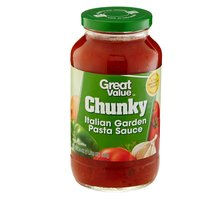 Great Value Chunky Italian Garden Pasta Sauce