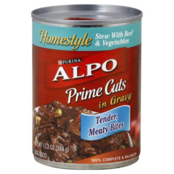 Alpo Wet Prime Cuts Stew With Beef & Vegetables in Gravy Dog Food