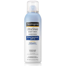 Neutrogena Ultra Sheer Body Mist Sunscreen Spray Broad Spectrum SPF 70