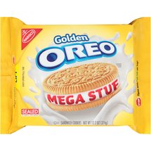 Nabisco Golden Oreo Mega Stuf Sandwich Cookies