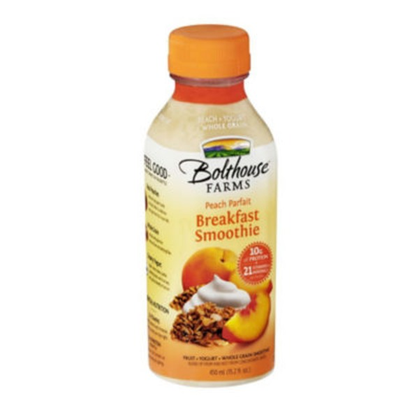 Bolthouse Farms Breakfast Smoothie Peach Parfait Fruit + Yogurt + Whole Grain Smoothie