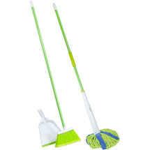 Lysol Broom with Dustpan & Microfiber Cone Mop Value Pack