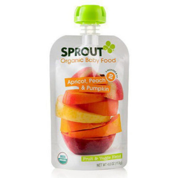 Sprouts Organic Baby Food Apricot, Peach & Pumpkin