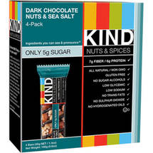 KIND Nuts & Spices Dark Chocolate Nuts & Sea Salt Snack Bars