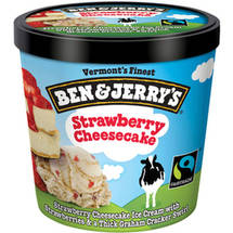 Ben & Jerry's Strawberry Cheesecake Ice Cream Single Serving