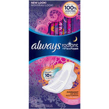 Always Radiant Infinity Overnight Fresh-Scented Feminine Pads