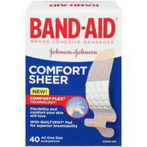 Band-Aid Comfort-Flex Sheer Adhesive Bandages