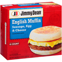 Jimmy Dean Sausage Egg & Cheese English Muffin Sandwiches