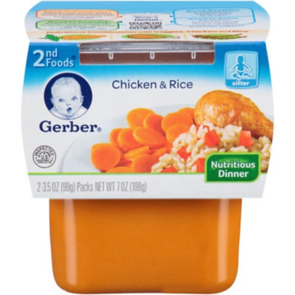 Gerber Chicken & Rice Nutritious Dinner 2nd Foods