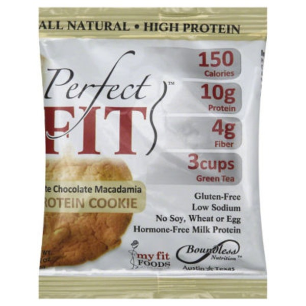 Perfect Cookie Protein Cookie, White Chocolate Macadamia, Bag