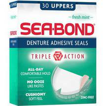 Sea-Bond Lowers Fresh Mint Denture Adhesive Wafers