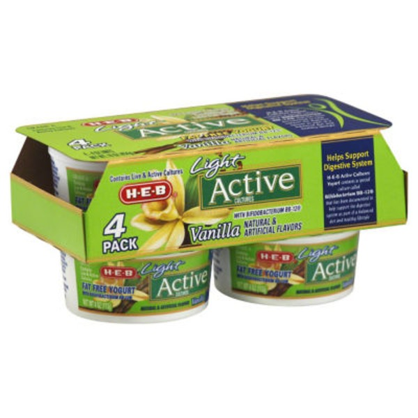 H-E-B Light Vanilla Active Cultures