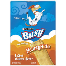 Busy Heartyhide Dog Treats with Real Beefhide