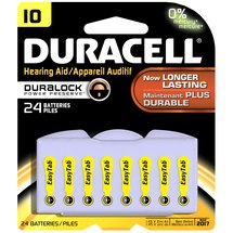 Duracell Easy Tab Hearing Aid Batteries Size