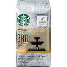 Starbucks Decaf Blonde Aria Blend Ground Coffee