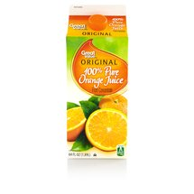 Great Value 100% Orange Juice From Concentrate 64 Fl Oz