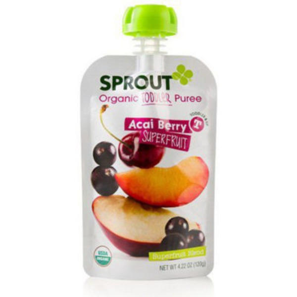 Sprouts Organic Toddler Puree Acai Berry Superfruit