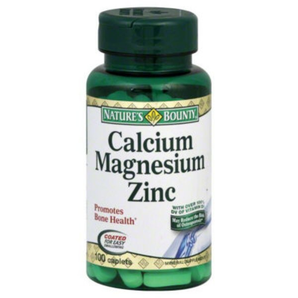 Nature's Bounty Calcium Magnesium Zinc - 100 CT