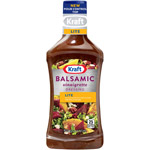 Kraft Salad Dressing: Salad Dressing Light Balsamic Vinaigrette w/Extra Virgin Olive Oil 16 Fl Oz