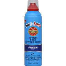 Gold Bond Fresh Scent No Mess Foot Powder Spray