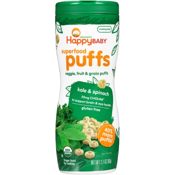 Happy Baby/Family Kale & Spinach Superfood Puffs