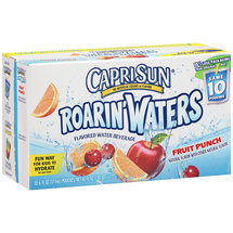 Caprisun Roarin' Waters Fruit Punch Water Beverages