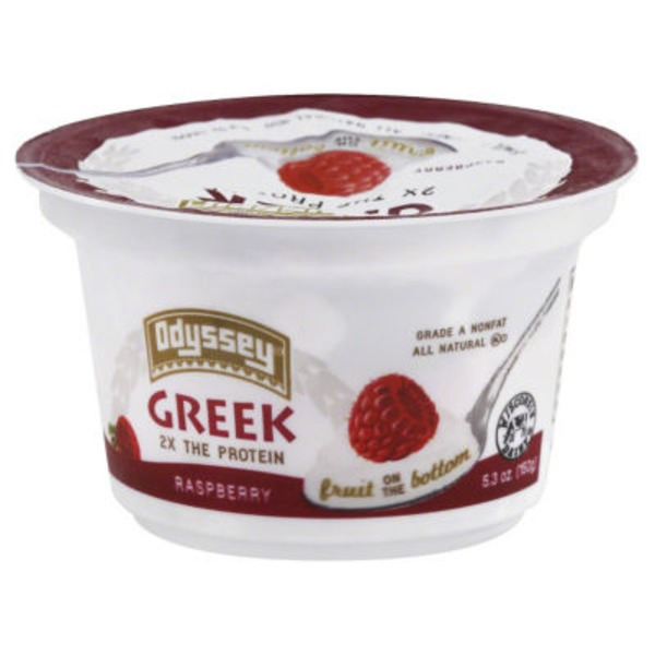 Odyssey Greek Nonfat Fruit on the Bottom Raspberry Yogurt