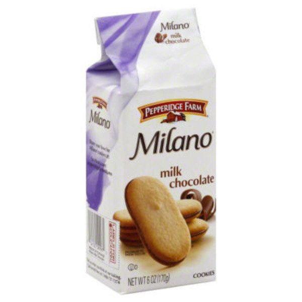 Pepperidge Farm Cookies Milano Milk Chocolate Cookies