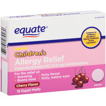 Equate Children's Cherry Flavor Allergy Relief Rapid Melts