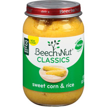Beech Nut Homestyle Sweet Corn & Rice Baby Food
