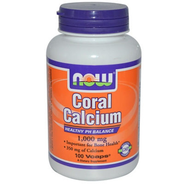 Now Coral Calcium 1000 Mg v-caps