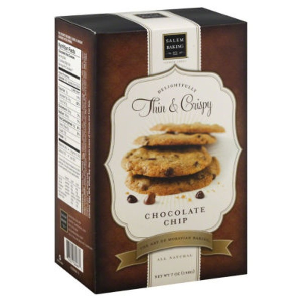 Salem Baking Company Delightfully Thin & Crispy Cookies Chocolate Chip