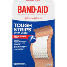 BAND-AID Tough-Strips Extra-Large Adhesive Bandages
