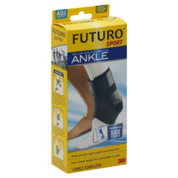 Futuro Sport Deluxe Adjustable Black Ankle Stabilizer