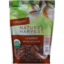 Nature's Harvest Organic Unsalted Whole Almonds