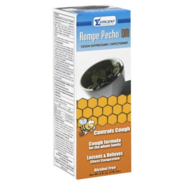 Rompe Pecho Dextromethorphan & Guaifenesin Herbal Extract