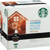 Starbucks House Blend Decaffeinated Medium Ground Coffee K-Cups