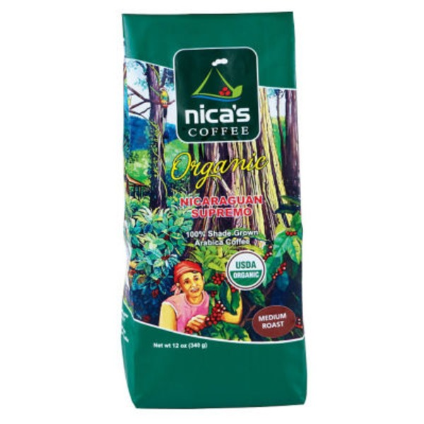 Nica's Coffee Organic Nicaraguan Supremo Ground Medium Roast Coffee