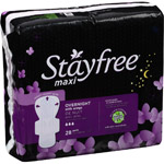 Stayfree Maxi Overnight Pads with Wings