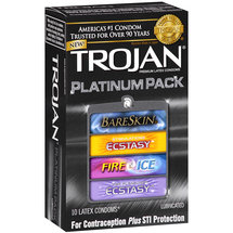 Trojan Platinum Pack Premium Latex Condoms