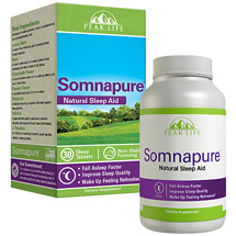 Peak Life Somnapure Natural Sleep Aid Dietary Supplement Tablets