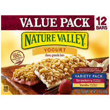 Nature Valley Yogurt Strawberry & Vanilla Variety Pack Chewy Granola Bars