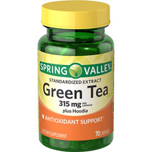 Spring Valley Green Tea plus Hoodia Dietary Supplement Capsules