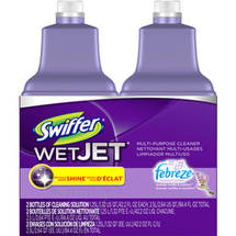 Swiffer 2 WetJet Multi-Purpose Cleaner Refills Lavender Vanilla and Comfort