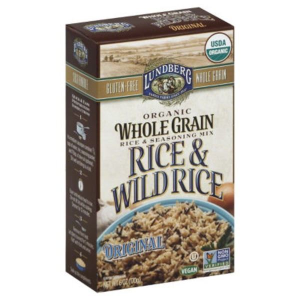 Lundberg Family Farms Rice & Wild Rice Original Rice & Seasoning Mix